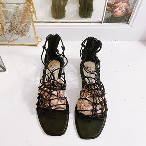 Free People 90's-esque Knotted Leather Sandals